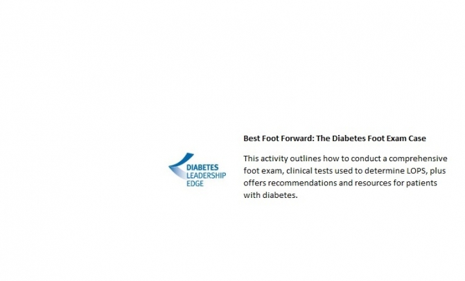 IPFH Provides Grant for Diabetic Foot Exam CME